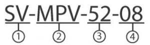 Обозначение маркировки распределителя SV-MPV-2