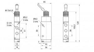 Габаритные и присоединительные размеры SV-MPV-52-06