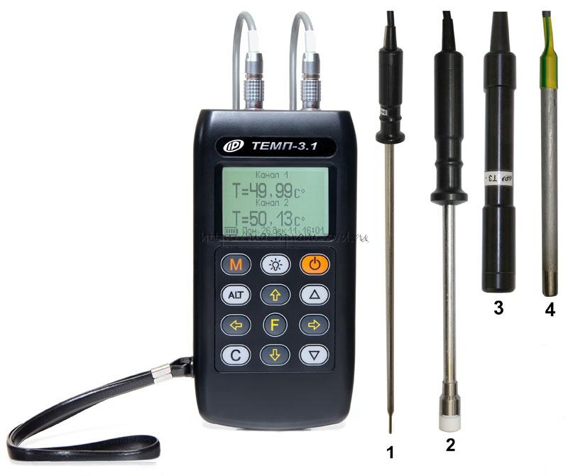 Одно- и двухканальные термометры ТЕМП-3.1