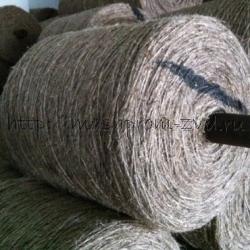 Пряжа техническая из лубяных волокон кабельная и для набивок