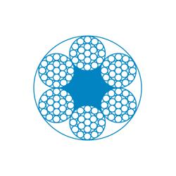 Канат стальной ТК конструкции 6x19(1+6+12)+1o.c. ГОСТ 3070