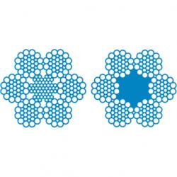 Канат стальной талевый для эксплуатационного и глубокого разведочного бурения ЛК-РО конструкции 6х31(1+6+6/6+12)+7х7(1+6); 6х31(1+6+6/6+12)+1о.с. ГОСТ 16853