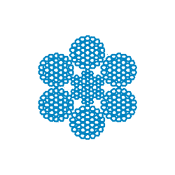 Металлотрос оцинкованный для резинотросовых конвейерных лент ТУ У 28.7-00191046-011-2003