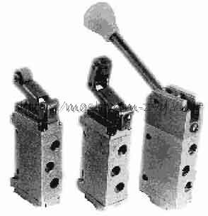 Пневмораспределители П-Р4Ф.2.200 с односторонним механическим управлением Dу4