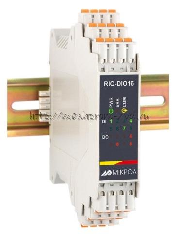 RIO-DIO16 - Модуль дискретного ввода 8-ми каналов и вывода 8-ми каналов