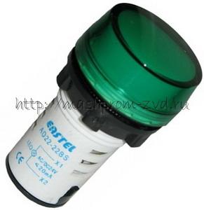 Светосигнальная арматура AD22 АС220V (зеленый)