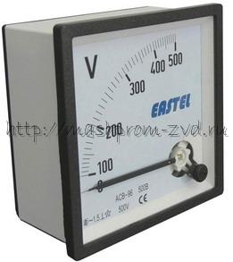 Вольтметр ACВ 96 96х96 мм, 500В, 300В
