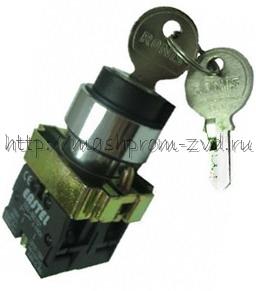 Переключатель с ключом 3-х позиционный с фиксацией XB2-BG03