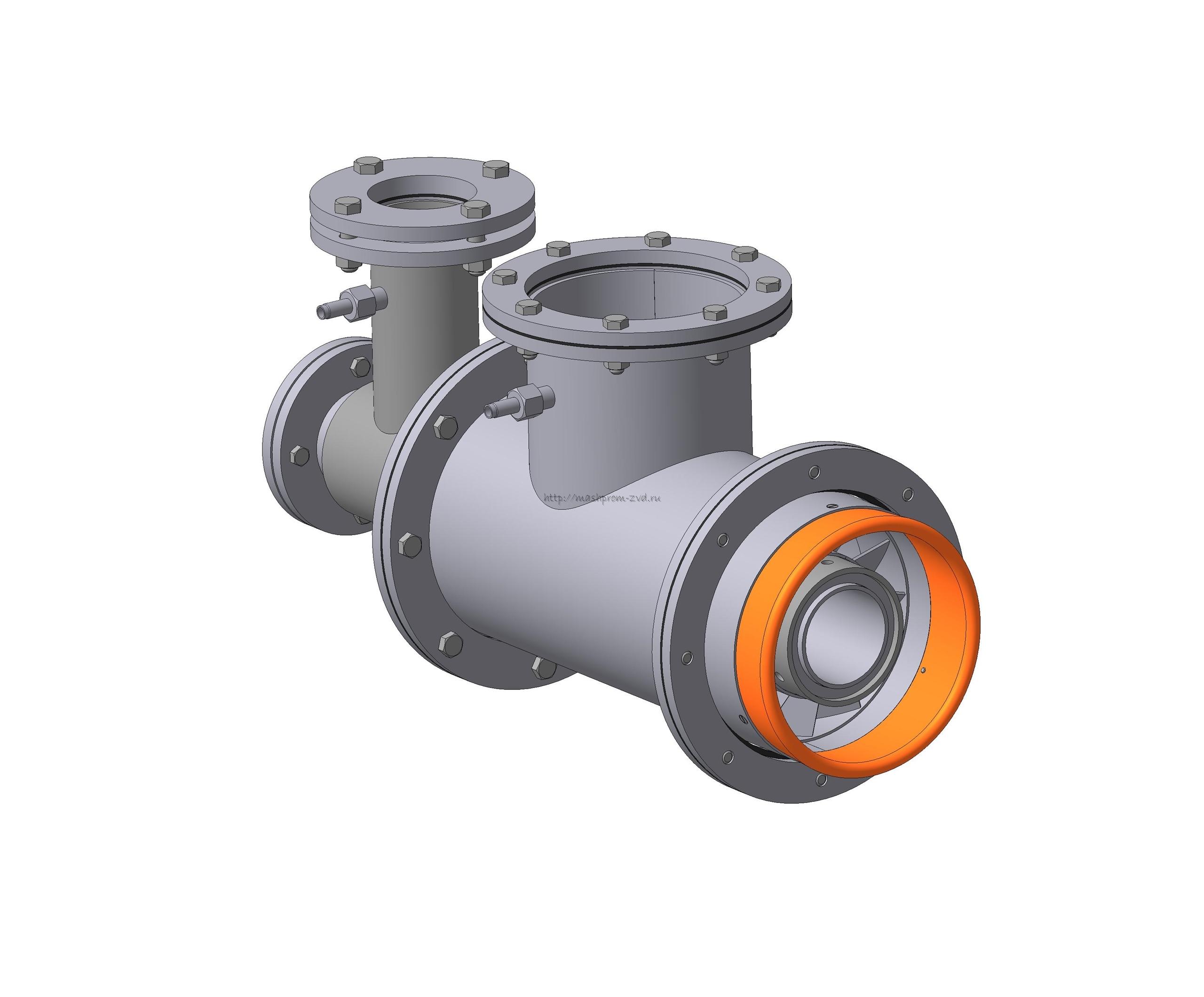 Горелка комбинированная газовая, жидкотопливная вихревая ГГВ-100