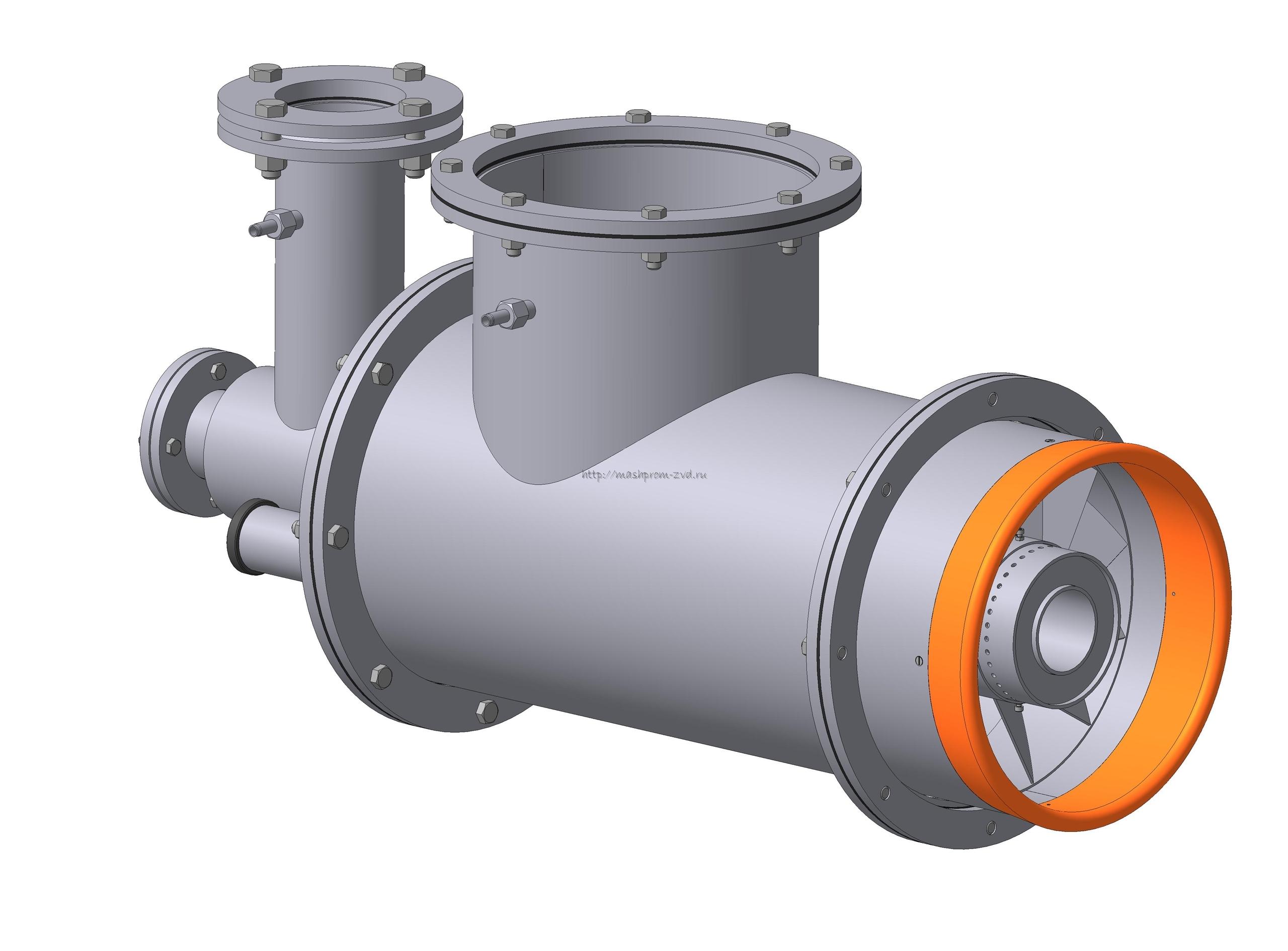 Горелка комбинированная газовая, жидкотопливная вихревая ГГВ-350