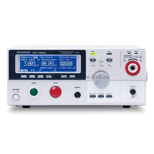 Комплексная установка для проверки параметров электробезопасности GPT-79803