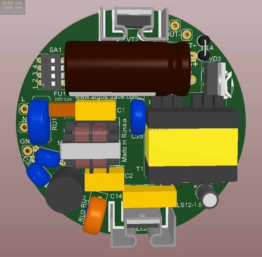 Cветодиодные драйверы ИПС IP00, диаметр 80мм: 40-1050ТД, 60-700ТД, 60-1050ТД
