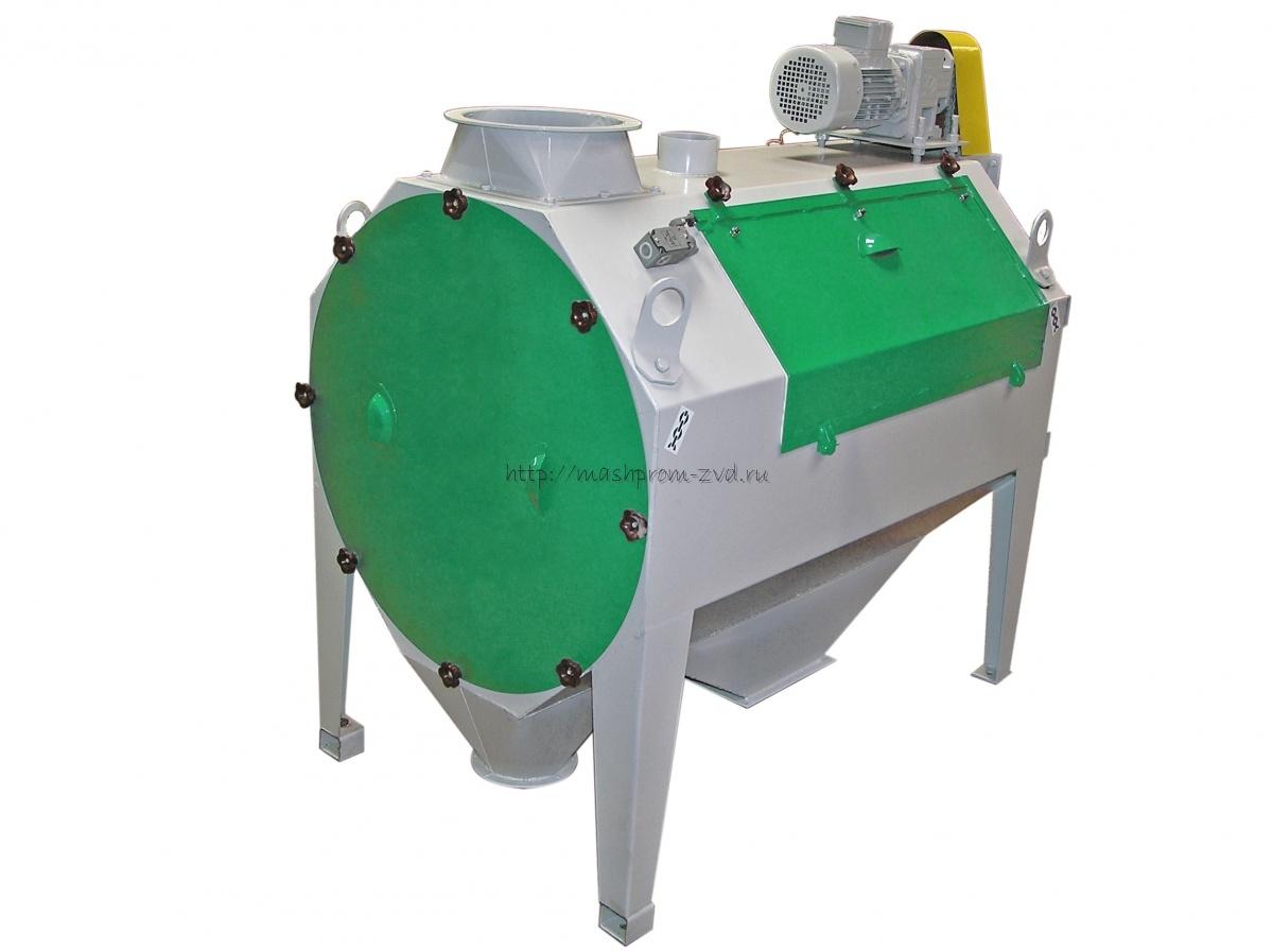 Барабанный просеиватель (скальператор) для предварительной очистки зерна марка ПБ-50