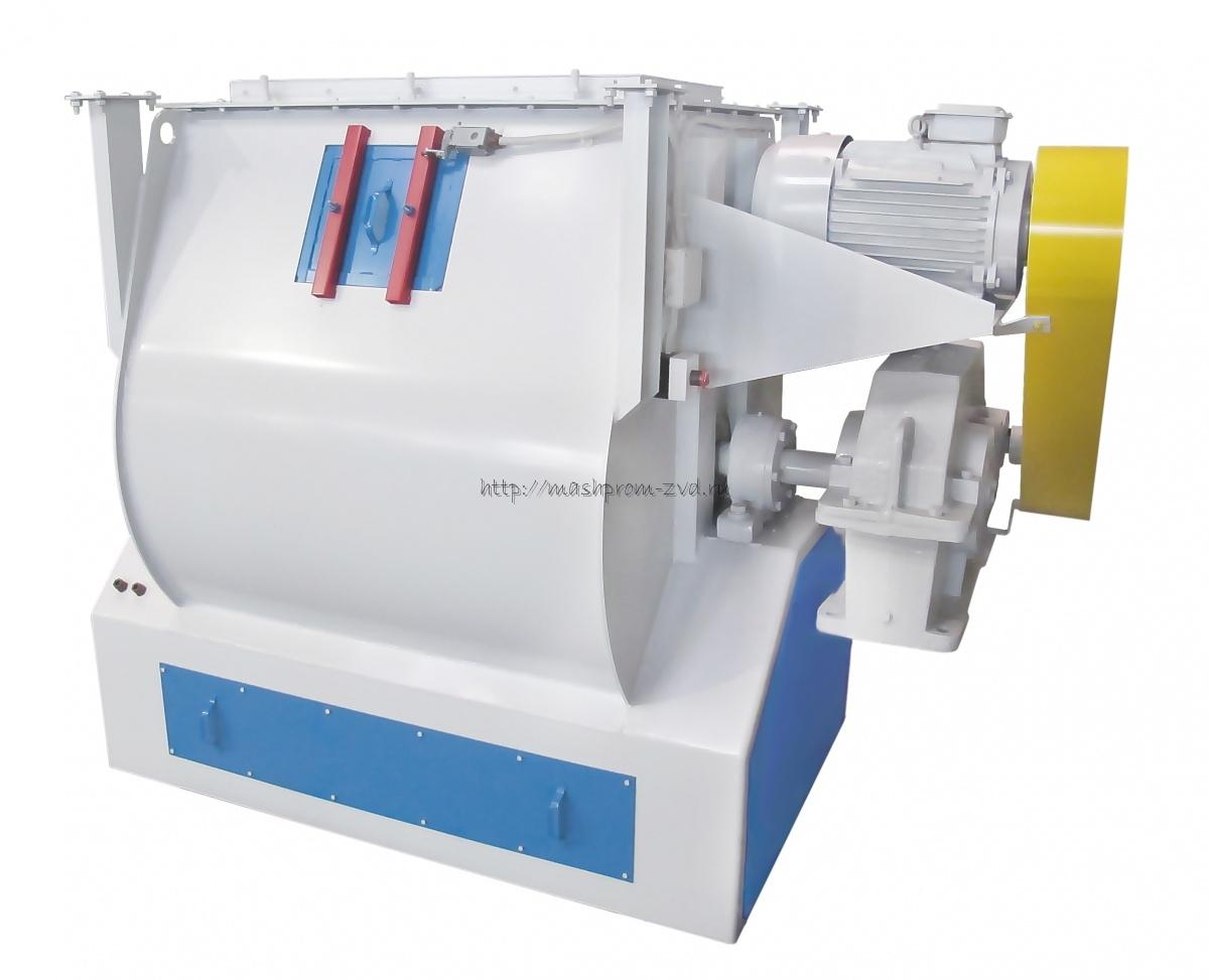 Смеситель горизонтальный скребково-лезвийный периодического действия марки ЗСЛ-1000