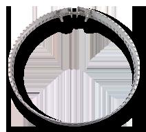 Металлический хомутовый ТЭН с обратным обогревом