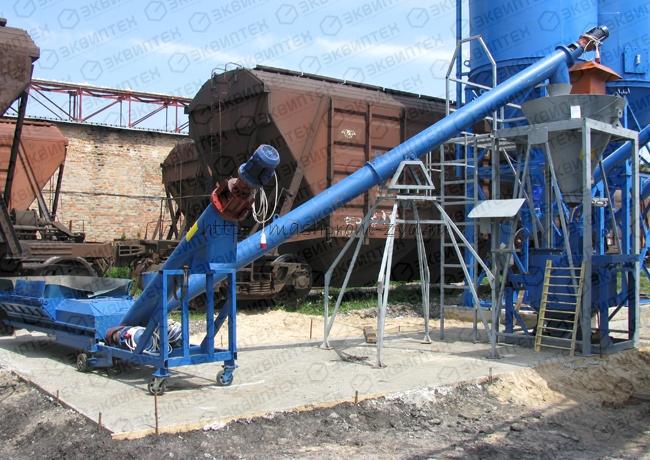 Механизированно-пневматическая система разгрузки цементных вагонов-хопперов, до 45 т/час