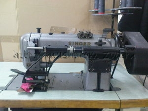 Двухигольная промышленная швейная машина SINGER 300W