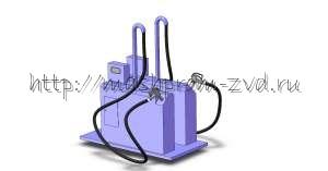 Высокопроизводительная топливная колонка для дизельного топлива Танкер-200, Танкер-300