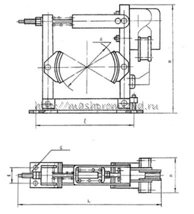 Тормоз колодочный ТКТМ-200