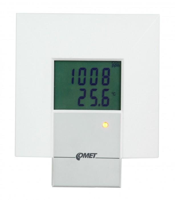 Преобразователи температуры и концентрации СО2 с выходами RS232, RS485 c интерьерным дизайном — Датчики T8348 и T8448