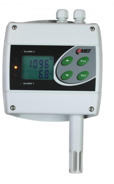 Преобразователь температуры, влажности и концентрации CO2 с двумя релейными выходами и Ethernet — Датчик H6520