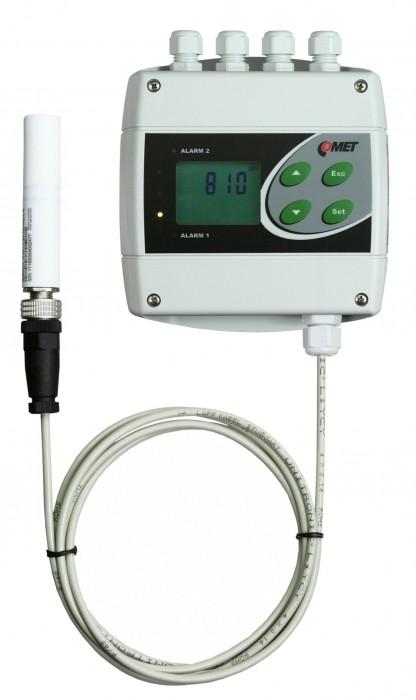 Преобразователи температуры, влажности и концентрации CO2 с интерфейсами RS232, RS485, двумя релейными выходами и выносным зондом — Датчики H6321 и H6421