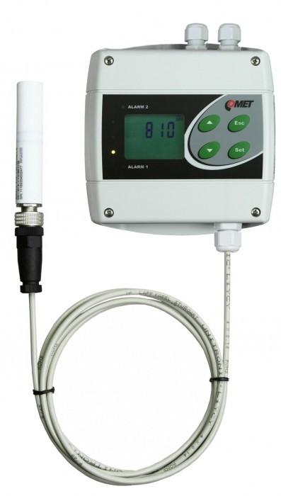 Преобразователь температуры, влажности и концентрации CO2 с двумя релейными выходами, Ethernet и выносным зондом — Датчик H6521