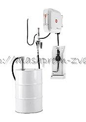 Настенный комплект SAMOA арт. 454659 для раздачи масла с насосом PM 2, катушкой, счетчиком и каплеул. для бочек 205 л