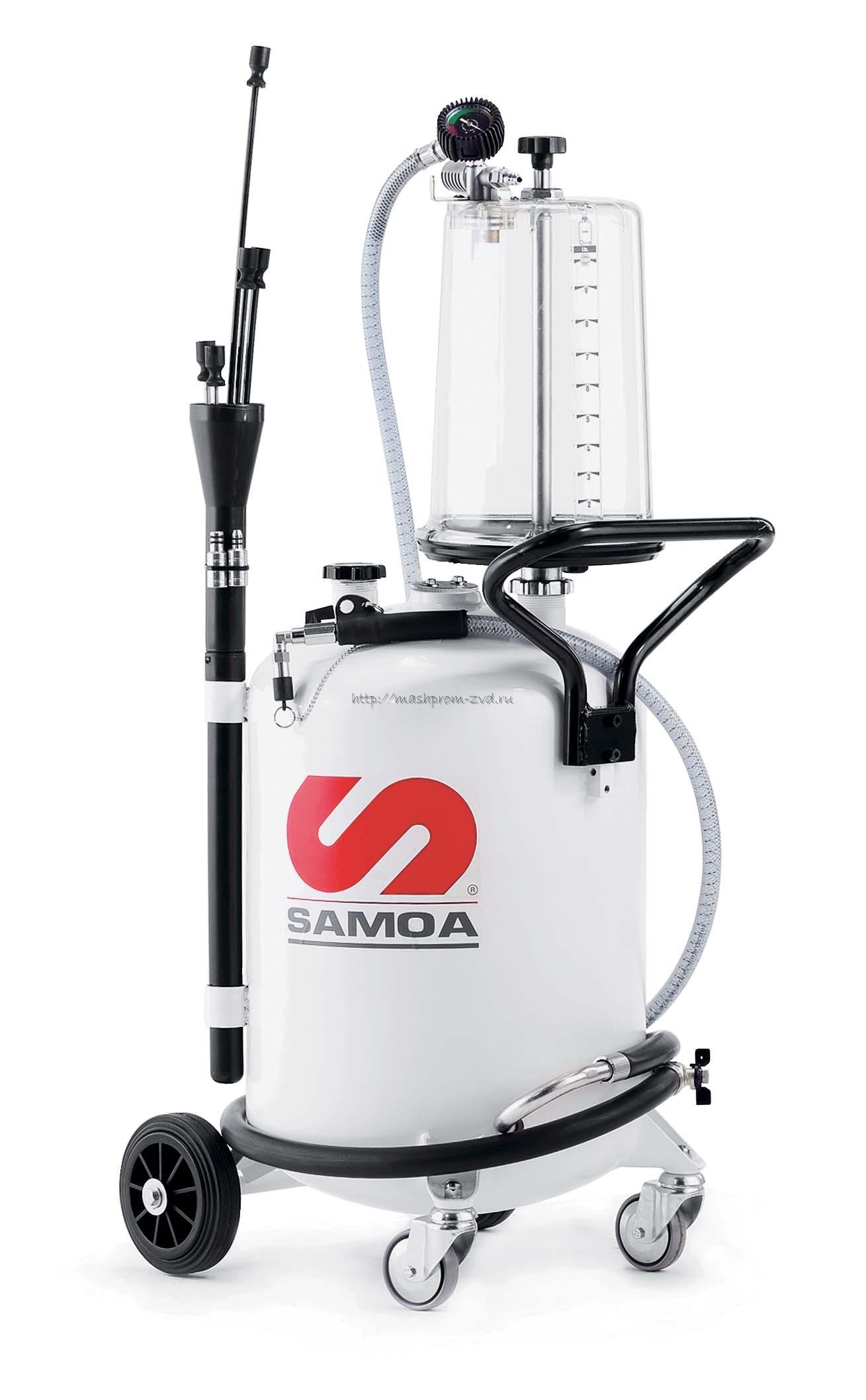Мобильная установка SAMOA арт. 373100 для откачки отработанного масла 70 л, с предкамерой