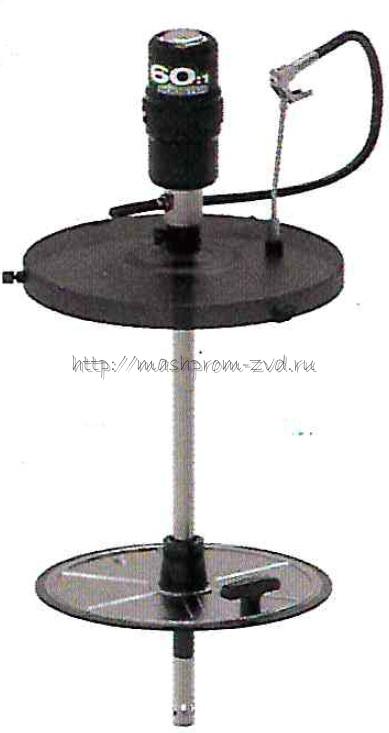 Пневматический солидолонагнетатель PIUSI арт. FK0300020 с насосом 60:1 для бочек 185 кг