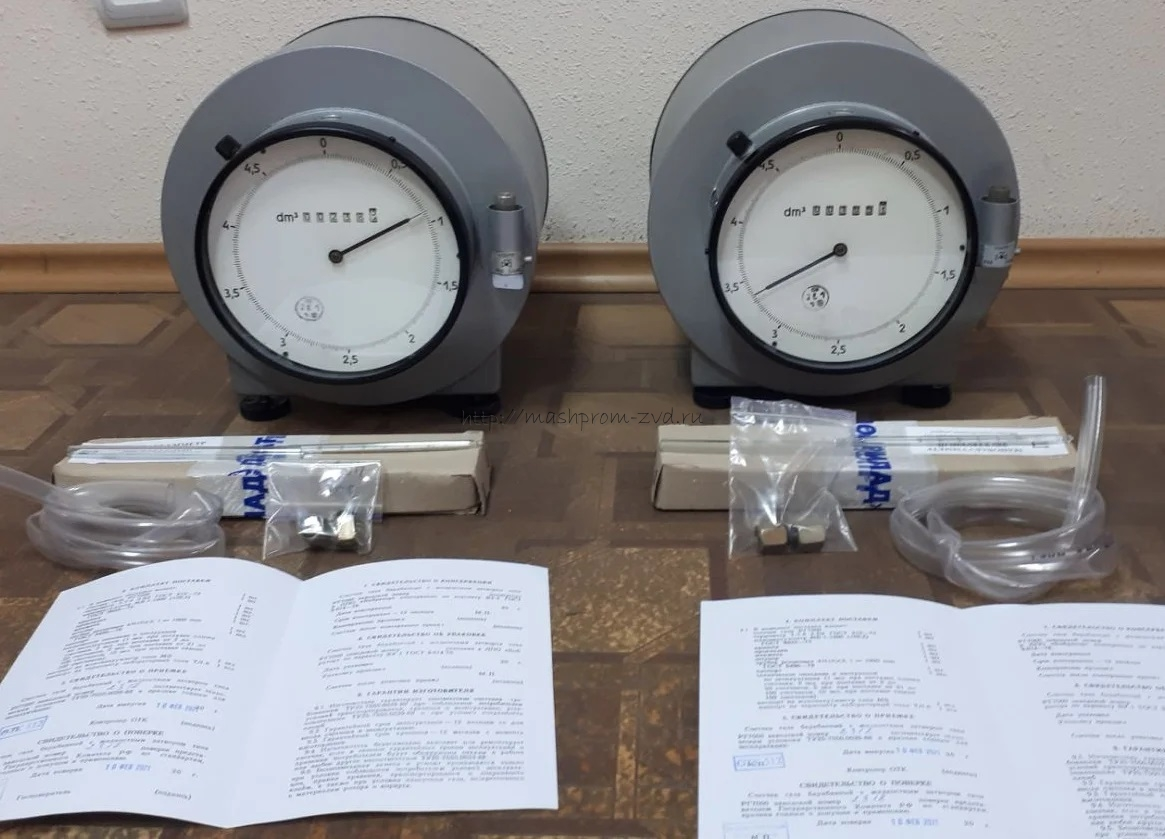 Счетчик газа барабанного типа с жидкостным затвором РГ7000