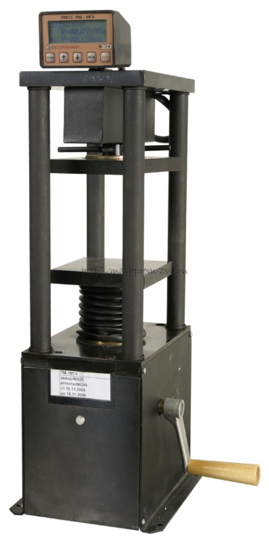 Прессы испытательные малогабаритные на 1, 2, 3, 5 и 10 кН: ПМ-1МГ4, ПМ-2МГ4, ПМ-3МГ4, ПМ-5МГ4 и ПМ-10МГ4