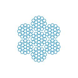 Канат стальной тк конструкции 6х19(1+6+12)+1х19(1+6+12) ГОСТ 3067