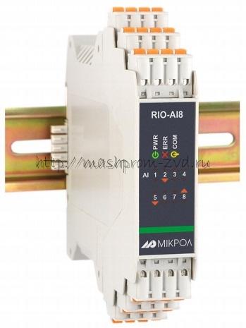 RIO-AUI8 - Модуль аналогового ввода 8-ми канальный
