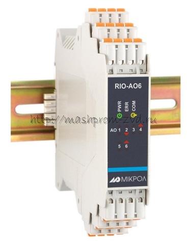 RIO-AO6 - Модуль аналогового вывода 6-ти канальный