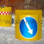 Пластиковый дорожный разделительный буфер