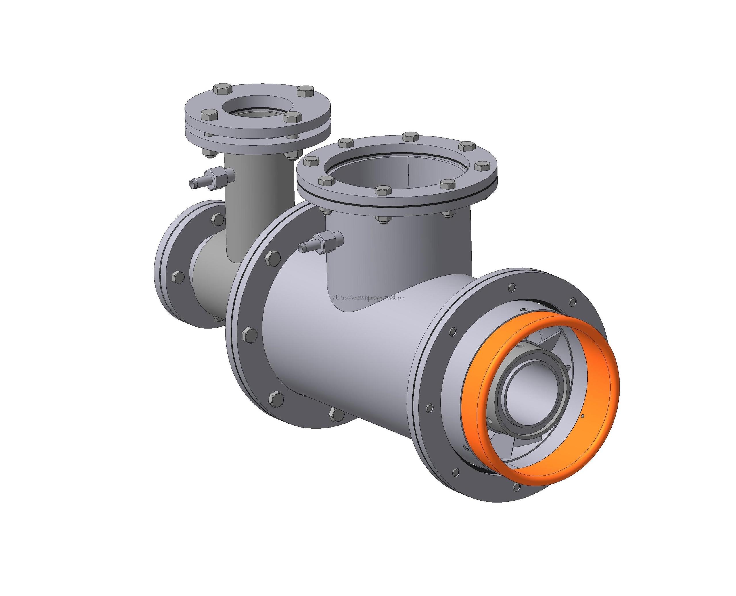 Горелка комбинированная газовая, жидкотопливная вихревая ГГВ-150