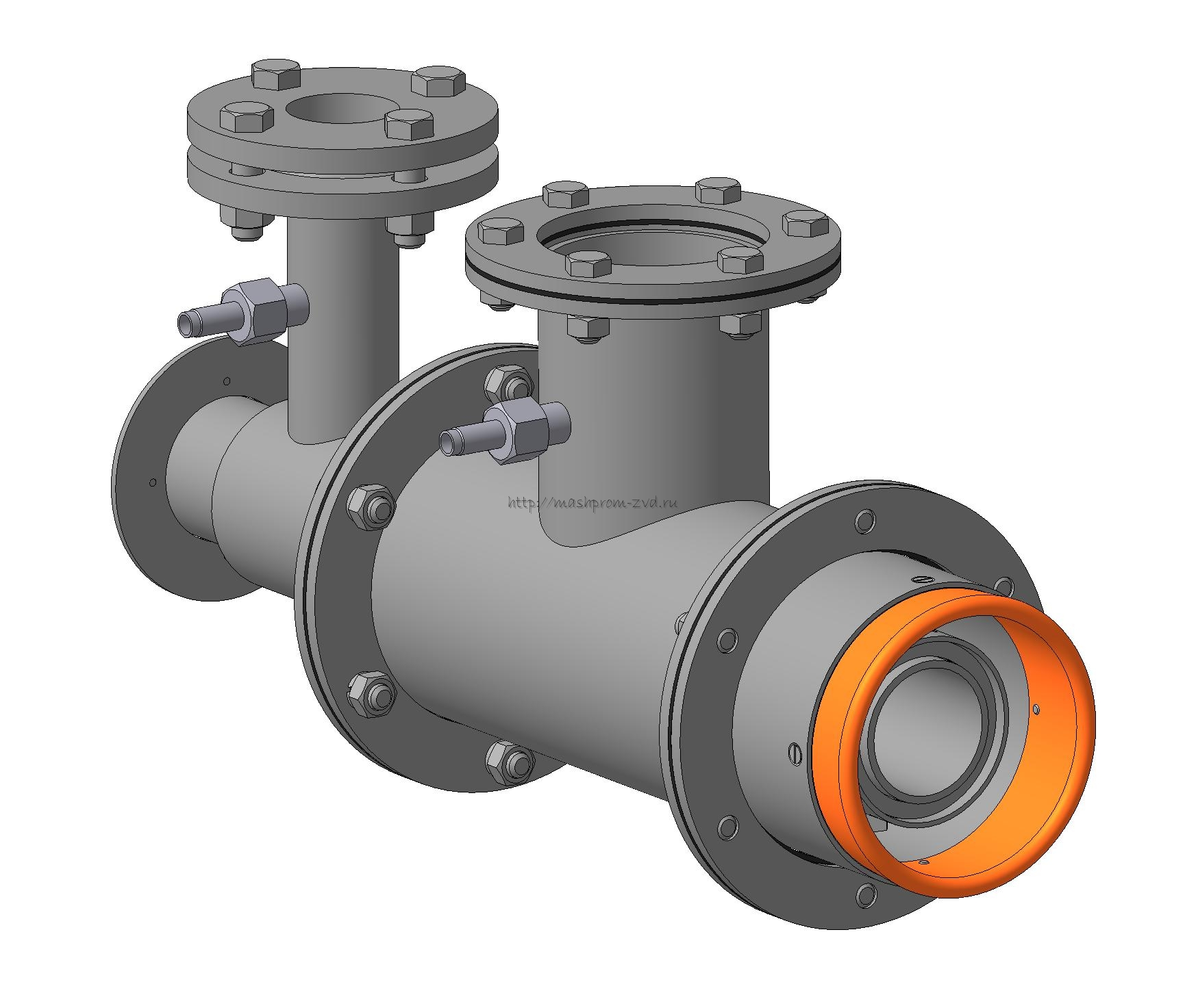 Горелка комбинированная газовая, жидкотопливная вихревая ГГВ-25