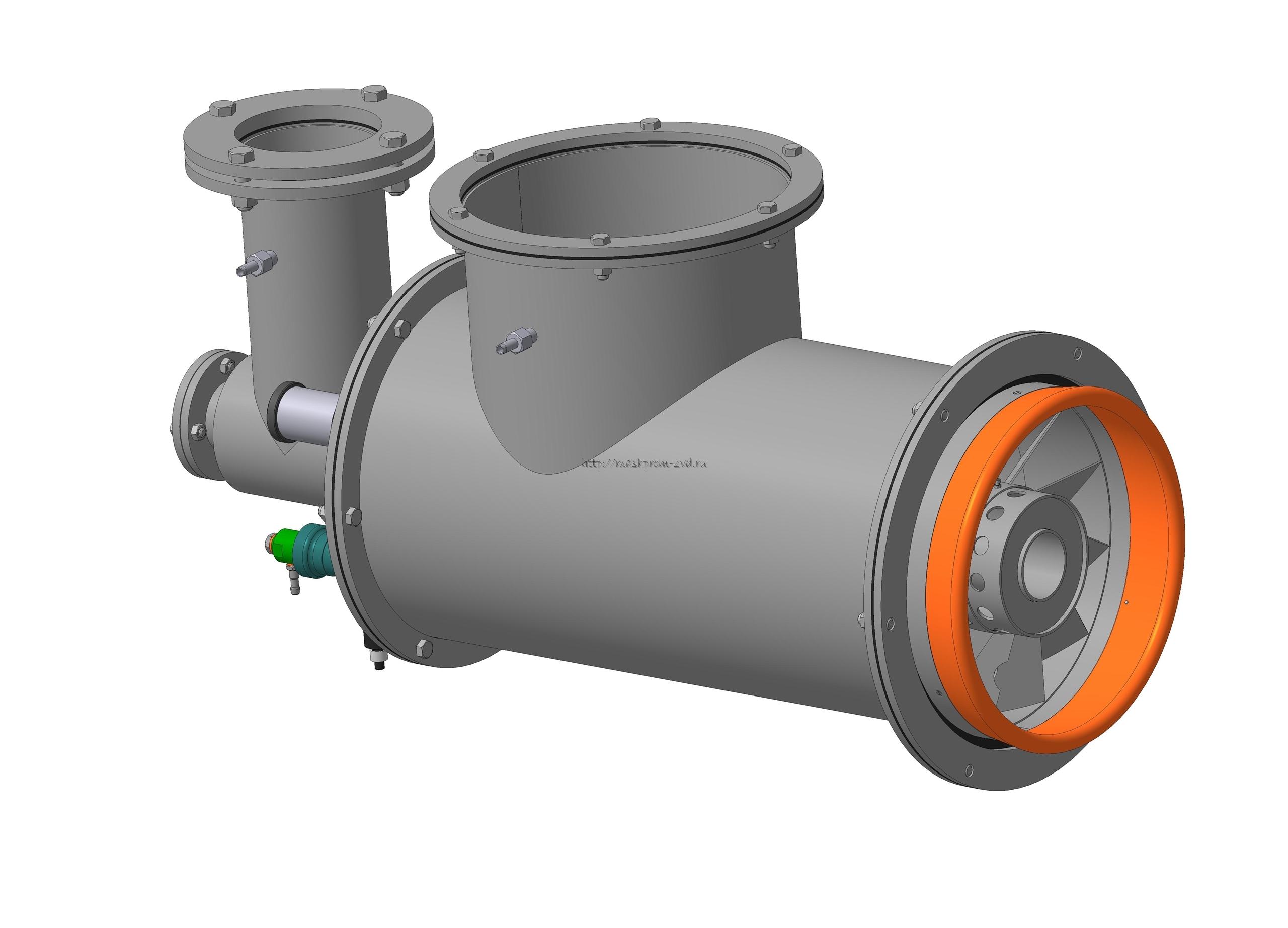 Горелка комбинированная газовая, жидкотопливная вихревая ГГВ-500