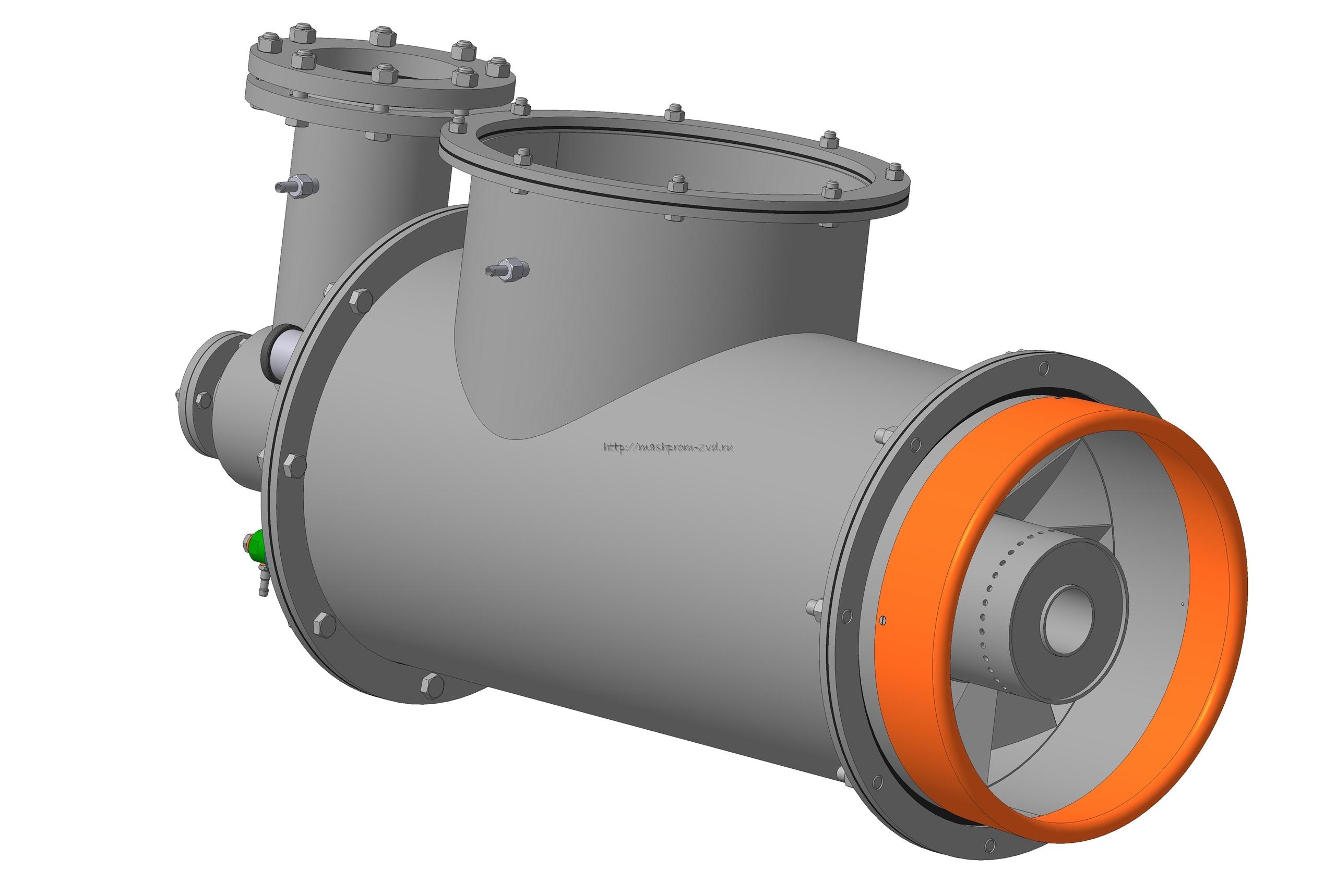 Горелка комбинированная газовая, жидкотопливная вихревая ГГВ-750
