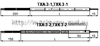 Преобразователи температуры термоэлектрические типа ТХА-3, ТХК-3