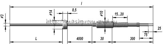 Кабельный линзовый термопреобразователь ТХК 9902