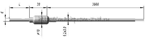 Кабельные преобразователи термоэлектрические ТХА 9624, ТХК 9624