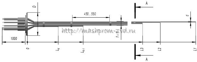 Кабельные многозонные термоэлектрические преобразователи ТХА 0309, ТХК 0309
