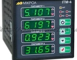 ИТМ-4 - Четырехканальный микропроцессорный технологический индикатор