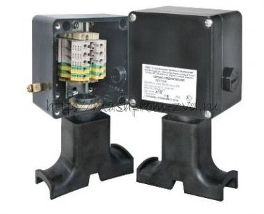 Коробки соединительные для подключения греющего кабеля (с кронштейном крепления к трубопроводу) РИЗУР КС-ГК Exе