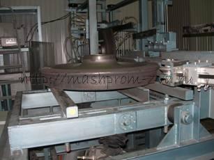 Установка автоматизированного магнитопорошкового контроля железнодорожных колес при их выпуске из производства УМПК-2