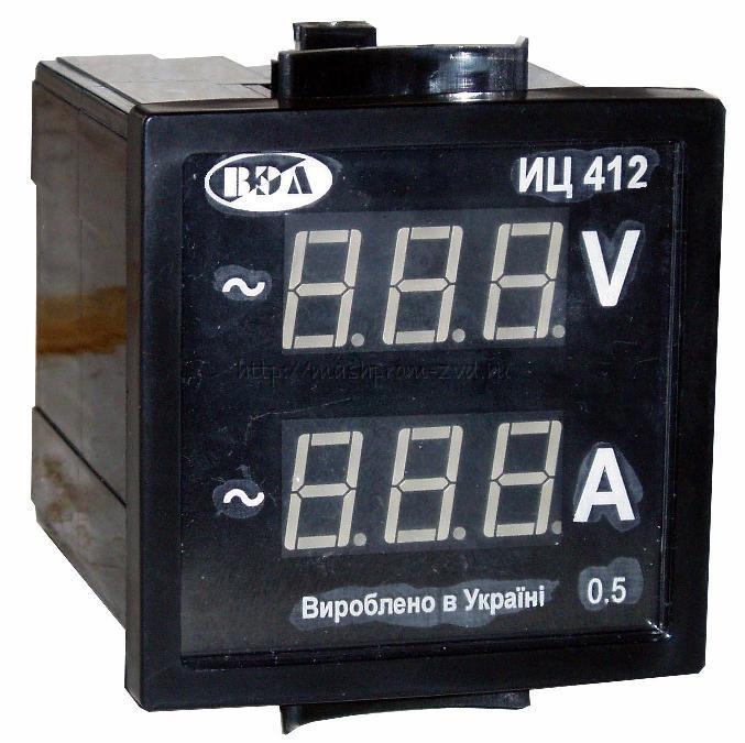 Индикатор напряжения и тока ИЦ412