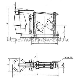 Тормоз колодочный ТКГМ-160(ТКГ-160)