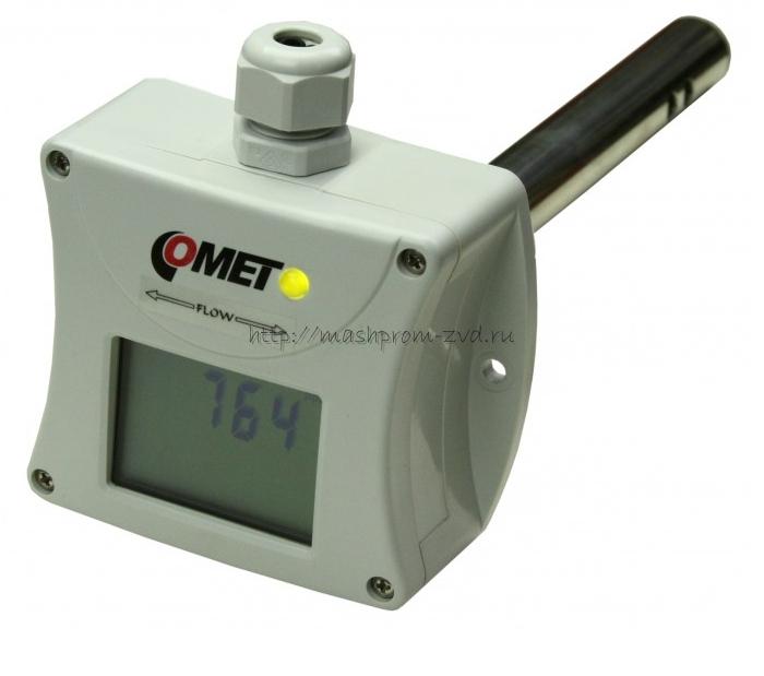 Канальный преобразователь концентрации СО2 с аналоговым выходом и цветовой индикацией — Датчик T5145